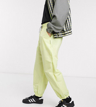 Collusion nylon pants in acid lime