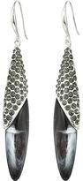 Robert Lee Morris Grey & Silver Oval Drop Earrings