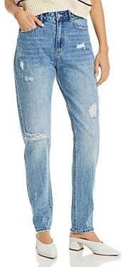 Vero Moda Cotton Ripped Skinny Jeans in Light Blue
