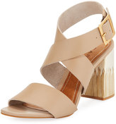 Carrano Aura Leather Ankle-Wrap Sandal