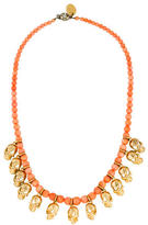 Mawi Coral Skull Bead Strand Necklace