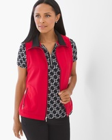 Chico's Fabric-Mix Vest