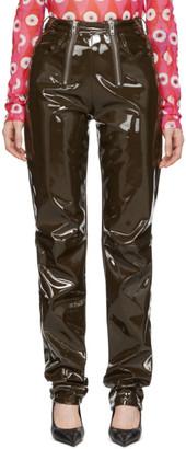 GmbH Khaki Vinyl Frey Trousers