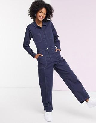 Tommy Jeans utility denim boilersuit in blue