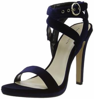 Karen Millen Fashions Limited Women's Velvet Heeled Sandals Open Toe Heels