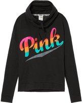 Victoria's Secret PINK Cowl Neck Pullover Sweatshirt Ombre