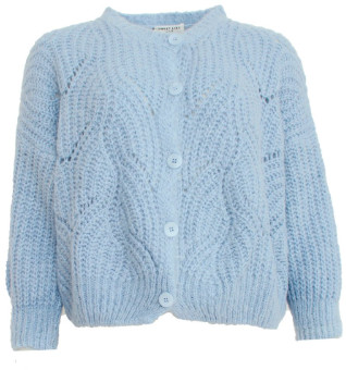 Sweet Like You - Buttoned Knitted Cardigan Light Blue - one size