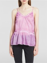 Calvin Klein V-Neck Sleeveless Drop Waist Top