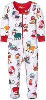 Hatley Holiday Cats Footed Coverall (Infant)