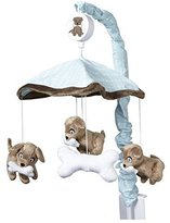 One Grace Place Puppy Pal Boy Mobile, Powder Blue, Chocolate Brown and White by