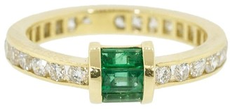 Retrouvaí 14kt yellow gold diamond Channel band ring