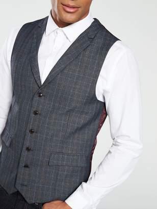 Skopes WarleyCheck Waistcoat - Grey/Blue