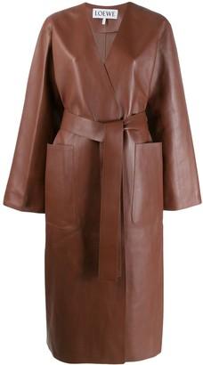 Loewe Long Leather Coat