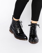 Bronx Chunky Lace Up Ankle Boots
