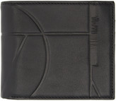 McQ by Alexander McQueen Black Leather Embossed Wallet