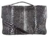 Calvin Klein Collection Metallic Python Envelope Clutch