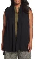 Eileen Fisher Plus Size Women's Lightweight Jersey Vest
