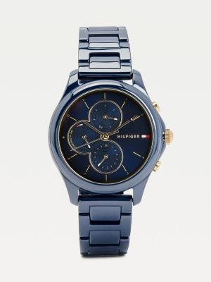 Tommy Hilfiger Multifunction Ceramic Navy Watch