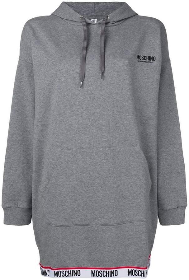 Moschino logo hem hoodie dress