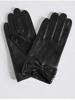M&S Collection Leather Bow Detail Gloves