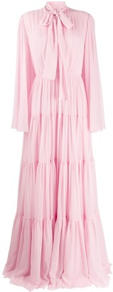 Giambattista Valli Pussy-Bow Silk Gown