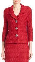 St. John Textured Sequin Knit Jacket