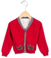Rachel Riley Girls' Embroidered Button-Up Cardigan