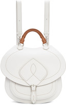 Maison Margiela White Leather Satchel Backpack