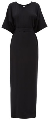 Rick Owens Waist-tie Cady Maxi Dress - Black