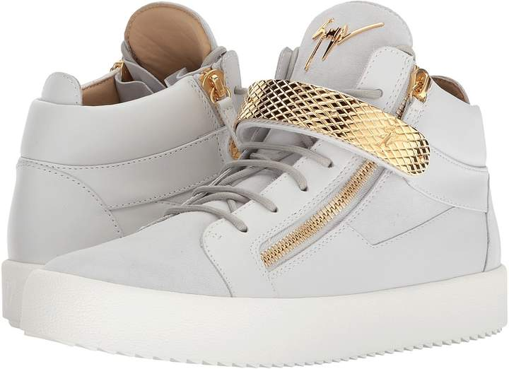 Giuseppe Zanotti May London Textured Band Mid Top Sneaker Men's Shoes