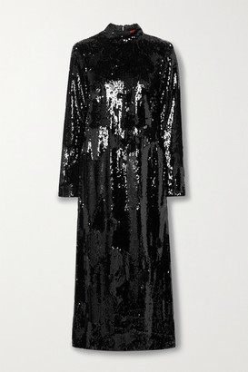 Commission Sequined Crepe Dress - Black