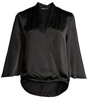 Generation Love Women's Silk Kimono Sleeve Blouse