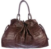 Nancy Gonzalez Crocodile Drawstring Tote