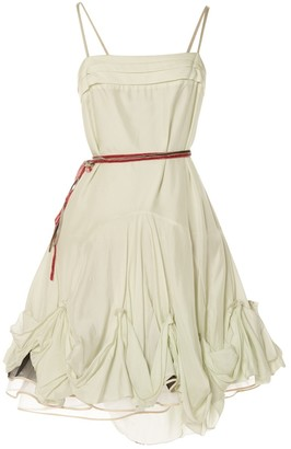 Charles Anastase Green Silk Dress for Women Vintage