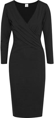 Iris & Ink Yasmin Wrap-effect Stretch-jersey Dress