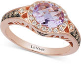LeVian Le Vian Amethyst (9/10 ct. t.w.) and Diamond (1/3 ct. t.w.) Ring in 14k Rose Gold