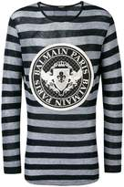 Balmain embroidered badge jumper