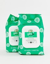Yes To Cucumber 2 pack soothing facial wipes x 30-No Colour