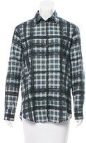 Burberry Oversize Button-Up Top