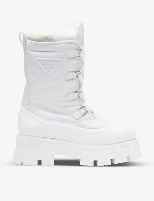Prada Monolith Re-Nylon Gabardine boots