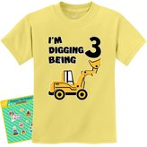 TeeStars - 3rd Birthday - Bulldozer Construction Party Toddler Kids T-Shirt