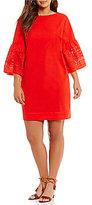 Lauren Ralph Lauren Plus Laser-Cut Poplin Dress