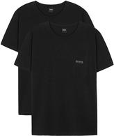 Boss White Stretch Cotton T-shirt - Set Of Two