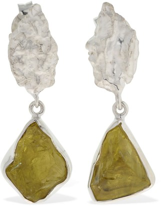 The Holy Mountain Earrings W/ Quartz
