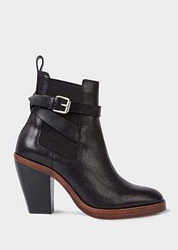 Women's Black Leather 'Bexley' Boots