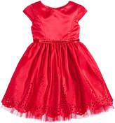 Sweet Heart Rose Laser Cut Special Occasion Dress, Big Girls