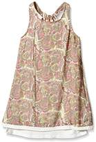 DDP Girl's Printed Dress - Off-White -