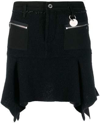 Diesel Deconstructed Mini Skirt