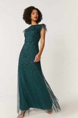 Coast Angel Sleeve Sequin Maxi Dress