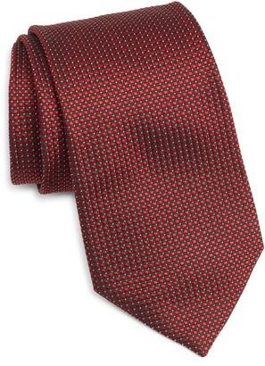Ermenegildo Zegna Grid Silk Tie